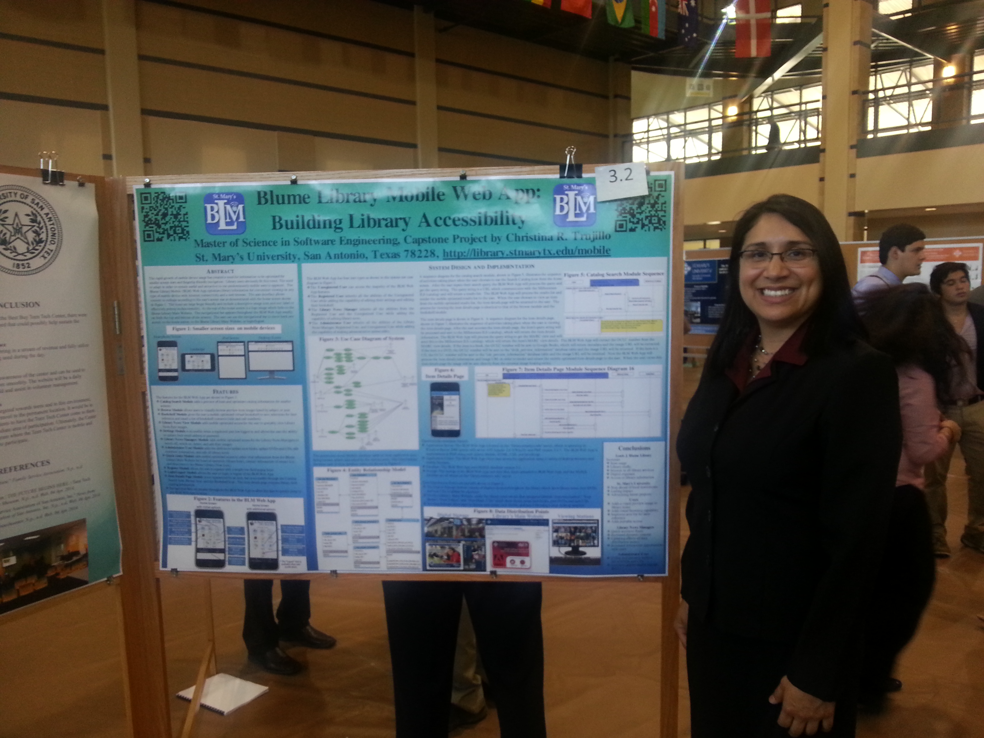 Christina Trujillo with Blume Library Mobile Web App Symposium Poster